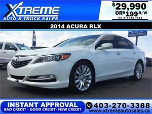 2014 Acura RLX P-AWS $199 bi-weekly APPLY NOW DRIVE NOW