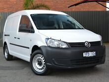 2011 Volkswagen Caddy 2KN MY11 TDI250 Maxi DSG White 7 Speed Sports Automatic Dual Clutch Van Fawkner Moreland Area Preview
