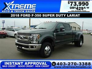 2018 FORD F-350 SUPER DUTY LARIAT *INSTANT APPROVAL $429/BW!