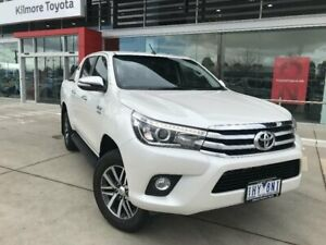 2016 Toyota Hilux GUN126R SR5 (4x4) Crystal Pearl 6 Speed Automatic Dual Cab Utility Kilmore Mitchell Area Preview