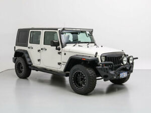 2008 Jeep Wrangler Unlimited JK Sport (4x4) White & Black 6 Speed Manual Softtop