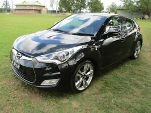 2013 Hyundai Veloster FS2 + Coupe D-CT Black 6 Speed Sports Automatic Dual Clutch Hatchback Kempsey Kempsey Area Preview