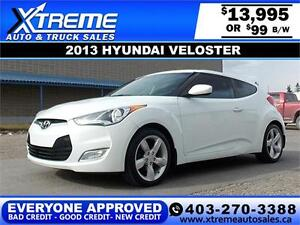 2013 Hyundai Veloster $99 bi-weekly APPLY NOW DRIVE NOW