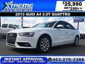 2013 Audi A4 2.0T Quattro $195 BI-WEEKLY APPLY NOW DRIVE NOW