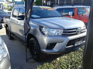 2016 Toyota Hilux GUN126R SR (4x4) Silver 6 Speed Automatic Dual Cab Utility Ulladulla Shoalhaven Area Preview