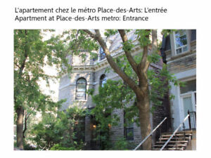 Colocation au mois McGill/Uqam month to month Roommates