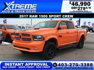 2017 RAM 1500 SPORT SPECIAL EDITION  *INSTANT APPROVAL* $279/BW!