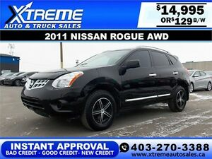 2011 Nissan Rogue S AWD $129 bi-weekly APPLY NOW DRIVE NOW