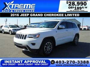2016 JEEP GRAND CHEROKEE LIMITED 4WD *INSTANT APPROVAL* $189/BW!