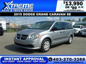 2015 Dodge Grand Caravan Canada Value Package $89/BW APPLY NOW