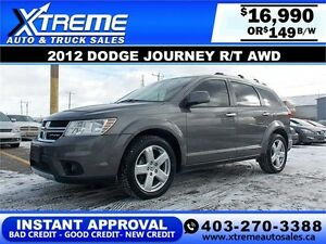 2012 DODGE JOURNEY R/T $149 BI-WEEKLY APPLY NOW DRIVE NOW