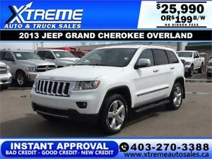 2013 JEEP GRAND CHEROKEE OVERLAND $199 Bi-Weekly APPLY NOW