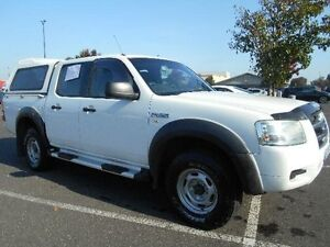 2007 Ford Ranger PJ 07 Upgrade XL (4x2) White 5 Speed Manual Dual Cab Pick-up Maidstone Maribyrnong Area Preview