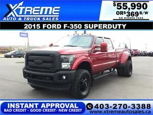 2015 FORD F-350 DUALLY LIFTED *INSTANT APPROVAL* $369/BW