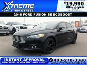 2016 FORD FUSION SE ECOBOOST $129 B/W *$0 DOWN* APPLY NOW
