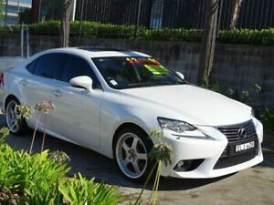 2015 Lexus IS200T ASE30R MY16 Luxury White 8 Speed Automatic Sedan Ulladulla Shoalhaven Area Preview