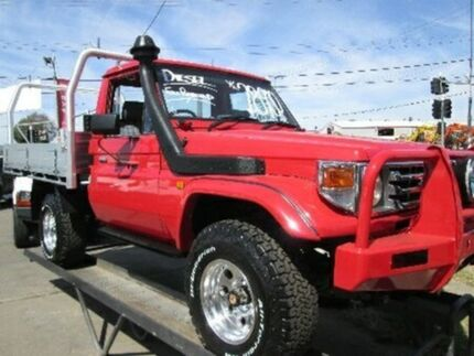 1994 Toyota Landcruiser HZJ75RP Red 5 Speed Manual Cab Chassis