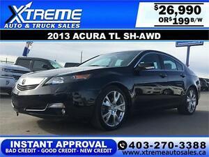 2013 Acura TL SH-AWD $199 bi-weekly APPLY NOW DRIVE NOW