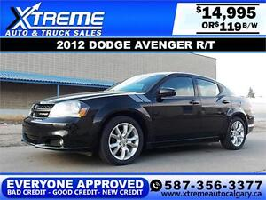2012 Dodge Avenger R/T $119 BI-WEEKLY APPLY NOW DRIVE NOW