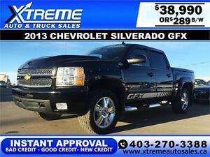 2013 Chevrolet Silverado GFX $289 bi-weekly APPLY NOW DRIVE NOW