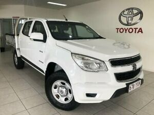 2012 Holden Colorado LX CREW CAB 4X2 White Manual Cab Chassis Bungalow Cairns City Preview
