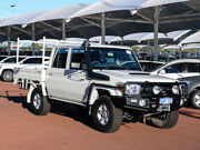 2016 Toyota Landcruiser LC70 VDJ79R MY17 GXL (4x4) White 5 Speed Manual Double Cab Chassis Jandakot Cockburn Area Preview