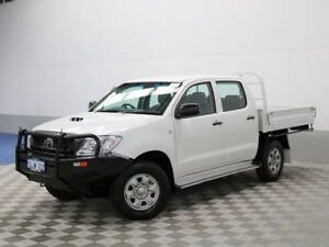 2011 Toyota Hilux KUN26R MY11 Upgrade SR (4x4) White 5 Speed Manual Dual Cab Chassis