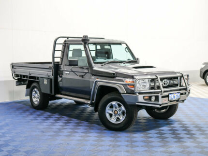 2014 Toyota Landcruiser VDJ79R MY12 Update GXL (4x4) Graphite 5 Speed Manual Cab Chassis