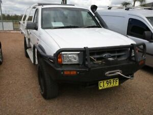 2000 Ford Courier PE GL White 5 Speed Manual Cab Chassis Mount Druitt Blacktown Area Preview