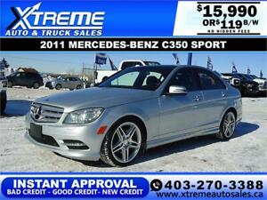 2011 MERCEDES-BENZ C350 $0 DOWN $119 B/W APPLY NOW DRIVE NOW