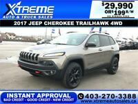 2017 JEEP CHEROKEE TRAILHAWK 4WD $199 B/W *$0 DOWN* APPLY NOW Calgary Alberta Preview