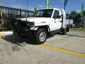 2003 Toyota Landcruiser HZJ79R (4x4) White 5 Speed Manual Cab Chassis Strathpine Pine Rivers Area Preview