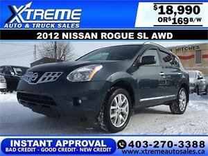 2012 Nissan Rogue SL AWD $169 bi-weekly APPLY NOW DRIVE NOW