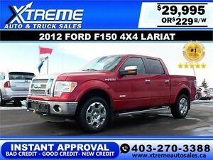 2012 Ford F150 LARIAT CREW $229 Bi-Weekly APPLY NOW DRIVE NOW