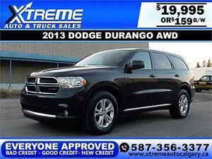 2013 Dodge Durango AWD $159 bi-weekly APPLY NOW DRIVE NOW