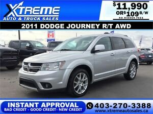 2011 Dodge Journey R/T AWD $109 bi-weekly APPLY NOW DRIVE NOW