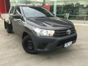 2018 Toyota Hilux GUN122R MY17 Workmate Graphite 5 Speed Manual Cab Chassis Seymour Mitchell Area Preview