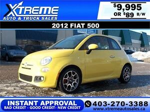 2012 Fiat 500 $89 bi-weekly APPLY NOW DRIVE NOW