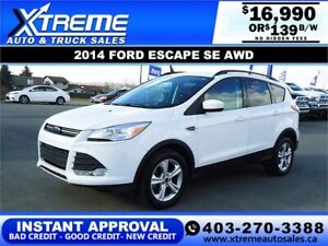 2014 FORD ESCAPE SE 4WD *INSTANT APPROVAL $0 DOWN $139/BW