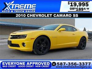 2010 Chevrolet Camaro SS $189 bi-weekly APPLY NOW DRIVE NOW