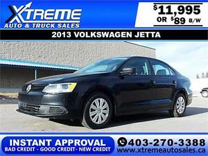 2013 Volkswagen Jetta S 2.0L $89 bi-weekly APPLY NOW DRIVE NOW