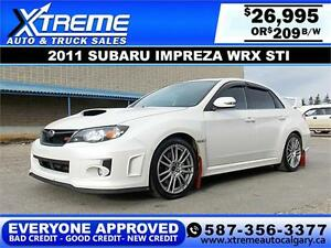 2011 Subaru Impreza WRX STi $209 bi-weekly APPLY NOW DRIVE NOW