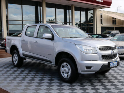 2013 Holden Colorado RG MY13 LX Crew Cab Silver 6 Speed Sports Automatic Utility