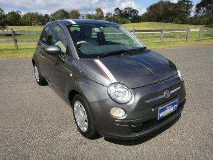 2013 Fiat 500 MY13 POP Charcoal 5 Speed Automatic Hatchback Mordialloc Kingston Area Preview