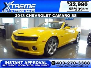 2013 Chevrolet Camaro 2SS $239 bi-weekly APPLY NOW DRIVE NOW