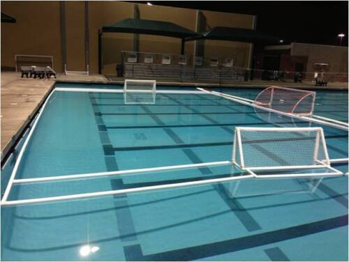 Portable Water Polo Course Lane Lines 15m x 10m