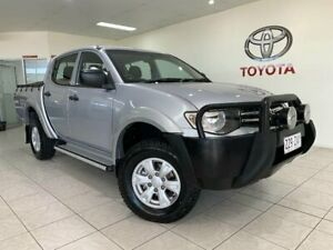 2015 Mitsubishi Triton MN MY15 GLX (4x4) Silver 4 Speed Automatic 4x4 Double Cab Utility Bungalow Cairns City Preview