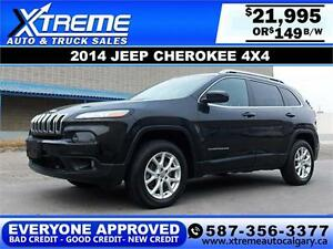 2014 Jeep Cherokee North 4x4 $149 bi-weekly APPLY NOW