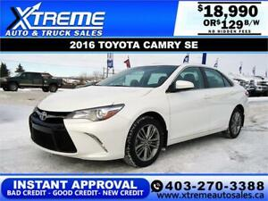 2016 TOYOTA CAMRY SE $0 DOWN $129 B/W APPLY NOW DRIVE NOW