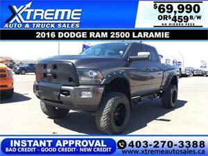 2016 RAM 2500 LARAMIE LIFTED *INSTANT APPROVAL* $459/BW!